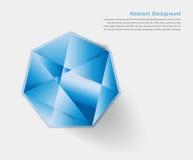 abstrakcjonistyczny klejnot i błękita lód ilustracja wektor