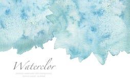 Abstrakcjonistyczny kleks malujący akwareli tło papierowa tekstura Isol ilustracji