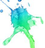 abstrakcjonistyczny kleks rysująca ręki akwarela Zdjęcia Stock