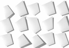 Abstrakcjonistyczny kolaż prześcieradła papier na białym tle obrazy stock
