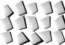 Abstrakcjonistyczny kolaż prześcieradła papier na białym tle zdjęcie stock
