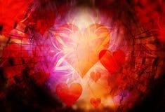 Abstrakcjonistyczny kolaż z sercem rozprzestrzenia out muzyk notatki, symbolizuje miłości muzyka, abstrakcjonistyczny ornamentacy ilustracji