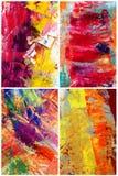 abstrakcjonistyczny kolaż Fotografia Stock