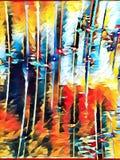 abstrakcjonistyczny kolor Zdjęcia Stock