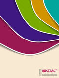 Abstrakcjonistyczny kolor fala broszurki projekt Fotografia Stock
