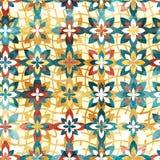 Abstrakcjonistyczny kolor kwitnie bezszwowego wzór Fotografia Royalty Free