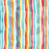 Abstrakcjonistyczny kolor linii bezszwowy wzór z papierowym skutkiem Obrazy Stock