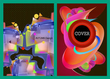 Abstrakcjonistyczny kolor zakrywa ustalony dobrego dla okładkowego plakatowego sztandaru projekta Obrazy Stock