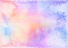 Abstrakcjonistyczny kolorowy żywy akwareli tło Obrazy Stock