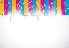 Abstrakcjonistyczny kolorowy błyszczący urodzinowy tło ilustracji