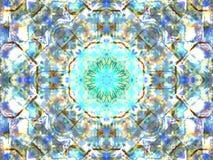Abstrakcjonistyczny kolorowy bezszwowy deseniowy kalejdoskop Obrazy Stock