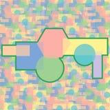 Abstrakcjonistyczny kolorowy bezszwowy geometrical deseniowy tło Zdjęcia Stock
