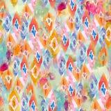 Abstrakcjonistyczny kolorowy blokowego druku wzór obraz stock