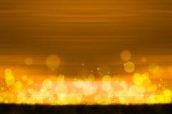 Abstrakcjonistyczny kolorowy bokeh na żółtym tle Zdjęcie Stock