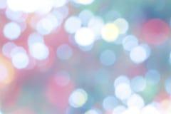 Abstrakcjonistyczny kolorowy bokeh okrąża tło Fotografia Stock