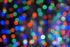 Abstrakcjonistyczny kolorowy bokeh plamy okręgu tło Rama kolory: czerń, zieleń, błękitna Zdjęcie Stock