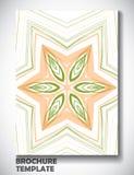 Abstrakcjonistyczny kolorowy broszurka szablon Zdjęcie Stock