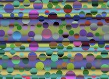 Abstrakcjonistyczny kolorowy cercle Fotografia Royalty Free