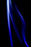 Abstrakcjonistyczny Kolorowy cyfrowy dym na czarnym tle Artystycznym Fotografia Stock