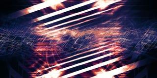 Abstrakcjonistyczny kolorowy cyfrowy tło 3d ilustracji