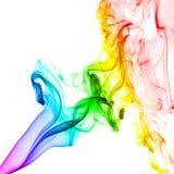 Abstrakcjonistyczny kolorowy dym na białym tle Zdjęcie Stock