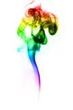 Abstrakcjonistyczny kolorowy dym na białym tle Zdjęcia Stock