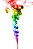 Abstrakcjonistyczny kolorowy dym na białym tle Fotografia Royalty Free