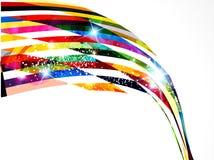 Abstrakcjonistyczny kolorowy falowy backgorund Zdjęcie Royalty Free