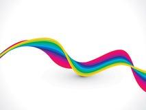 Abstrakcjonistyczny kolorowy falowy tło Zdjęcie Royalty Free