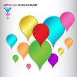 Abstrakcjonistyczny kolorowy Geometrical tło projekt Obrazy Stock