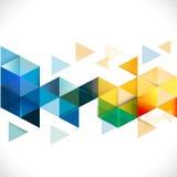 Abstrakcjonistyczny kolorowy geometryczny nowożytny szablon dla biznesu lub techniki Zdjęcia Stock