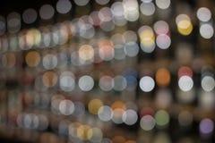 Abstrakcjonistyczny kolorowy kółkowy bokeh tło kreskowy Christmaslight, abstrakcjonistyczny tło Zdjęcia Stock