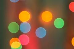 Abstrakcjonistyczny kolorowy kółkowy bokeh Fotografia Stock