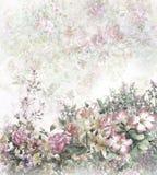 Abstrakcjonistyczny kolorowy kwiat akwareli obraz Wiosna stubarwna Obrazy Royalty Free