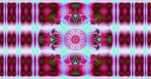 Abstrakcjonistyczny kolorowy kwiatu tło z szczegółowym szybkim szpanerskim hipnotycznym wzorem i pięknym wymienianie kwiatu wzore ilustracja wektor