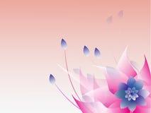 Abstrakcjonistyczny kolorowy kwiecisty tło. Obraz Royalty Free