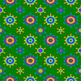 Abstrakcjonistyczny kolorowy kwiecisty wzór tło tekstury stara ceglana ściana Zdjęcie Stock
