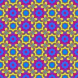 Abstrakcjonistyczny kolorowy kwiecisty wzór tło tekstury stara ceglana ściana ilustraci bezszwowy linowy Zdjęcia Royalty Free