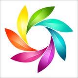 Abstrakcjonistyczny kolorowy kwiecisty znak Obrazy Royalty Free