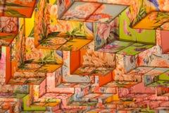 Abstrakcjonistyczny kolorowy lampion Zdjęcie Royalty Free