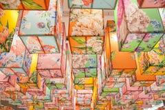 Abstrakcjonistyczny kolorowy lampion Obrazy Stock