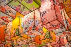 Abstrakcjonistyczny kolorowy lampion Fotografia Stock