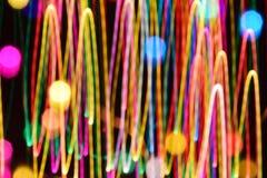 Abstrakcjonistyczny kolorowy linii światła tła bokeh Fotografia Royalty Free