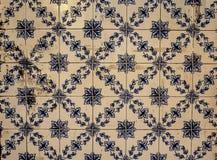 Abstrakcjonistyczny kolorowy marokańczyk, portugalczyk płytki, Azulejo, ornamenty Obrazy Royalty Free