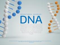 Abstrakcjonistyczny kolorowy medyczny tło z 3d Dna molekułą Po Fotografia Royalty Free