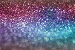 Abstrakcjonistyczny kolorowy menchii, purpur i błękita bokeh tekstury tło z błyskotliwością, zaświeca Fotografia Royalty Free
