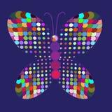 Abstrakcjonistyczny kolorowy motyl w wektorze Obrazy Royalty Free