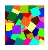 Abstrakcjonistyczny kolorowy nowożytny jaskrawy tło w geometrycznym stylu ilustracja wektor