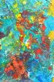 Abstrakcjonistyczny kolorowy obraz Obrazy Royalty Free