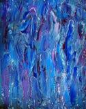 Abstrakcjonistyczny kolorowy obraz kobiety ` s sylwetki Obraz Royalty Free